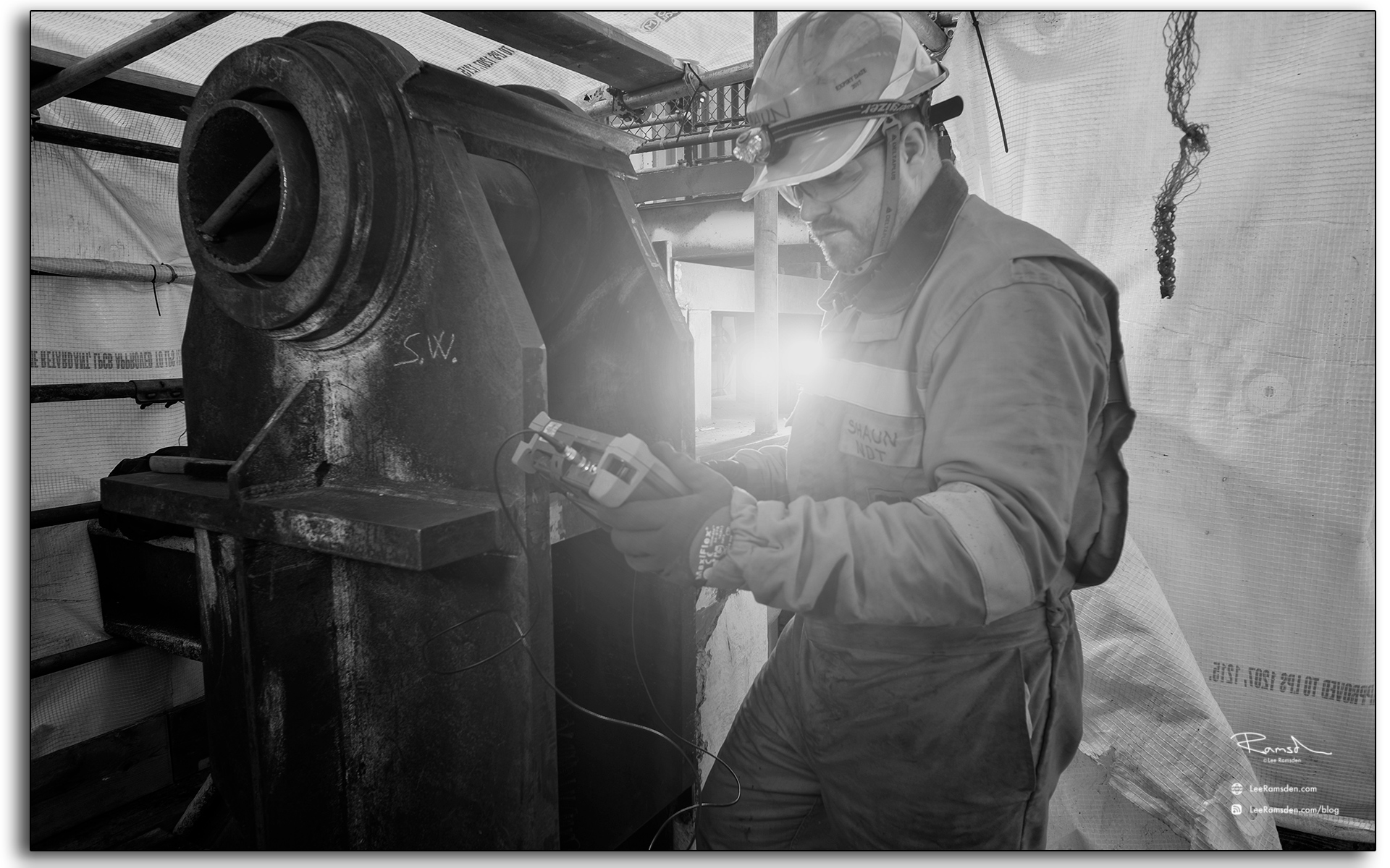 Shaun Clews, oil a nd gas, NDT tester, offshore, rig, platform, installation.