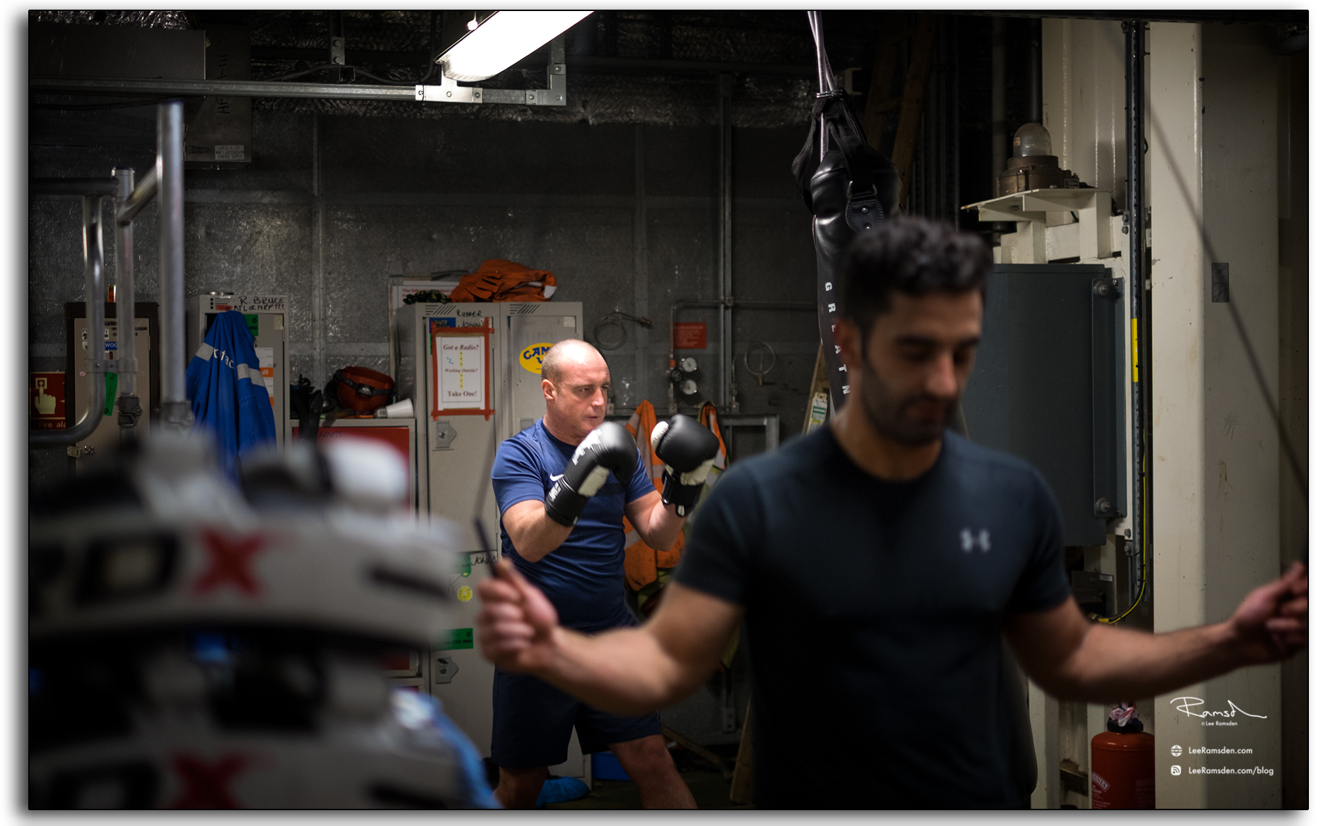 Boxing, Iain Hutton, yahia Imam, BP, Petrofac, offshore, fittness, sports, photo taken by, Lee Ramsden.