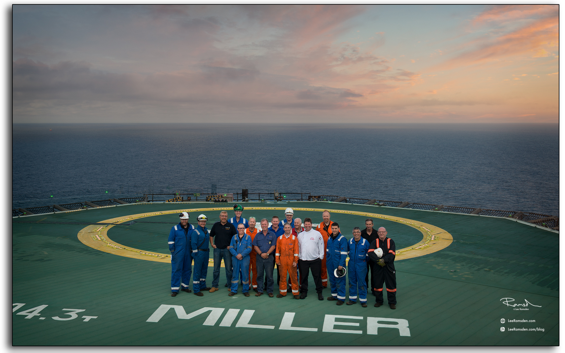 BP Miller, decommissioning, offshore, Petrofac, core crew, photo my lee ramsden