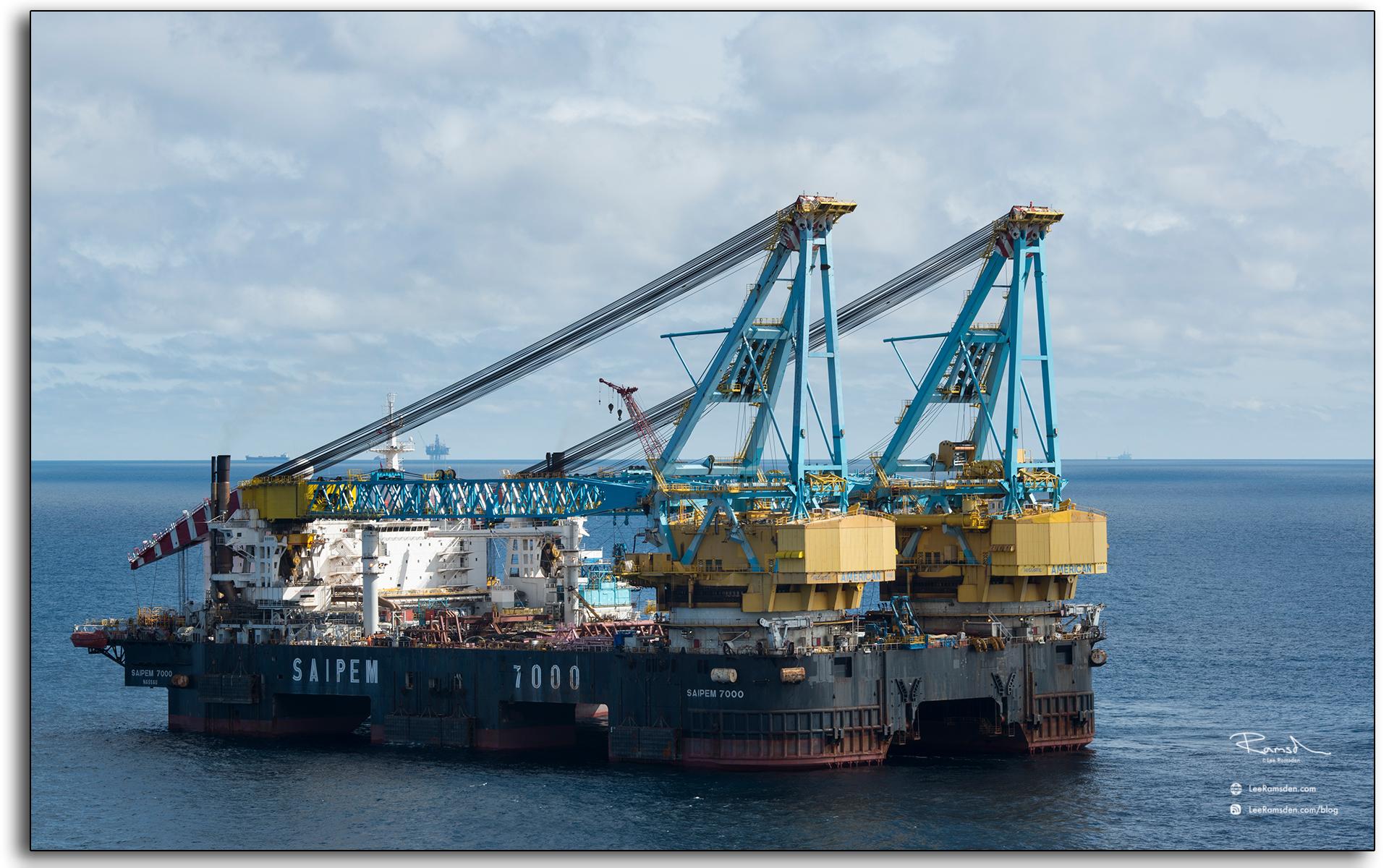 S7000 north sea, lifting vessel, Saipem, italian