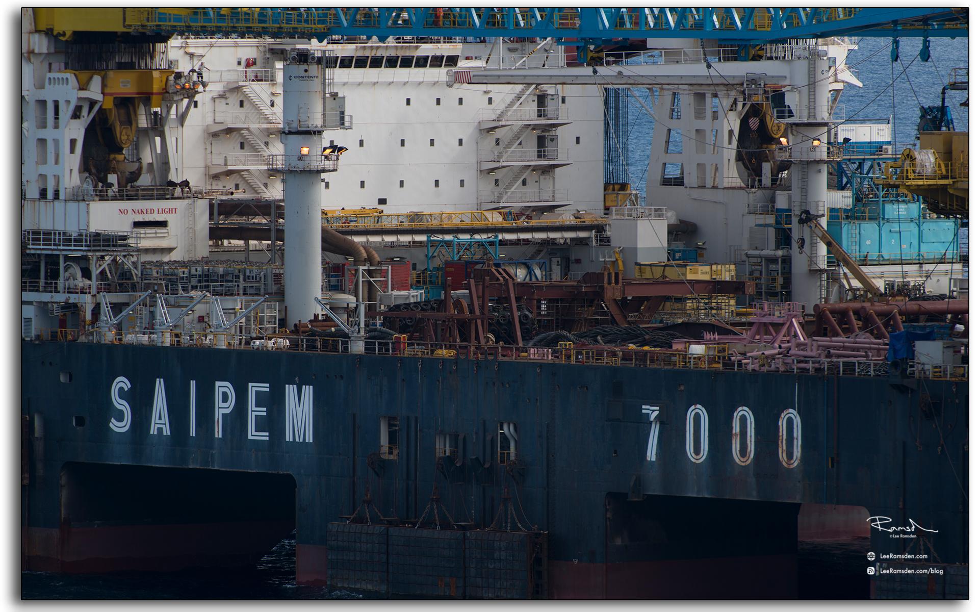 Saipem 7000, heavy lifting, vessel
