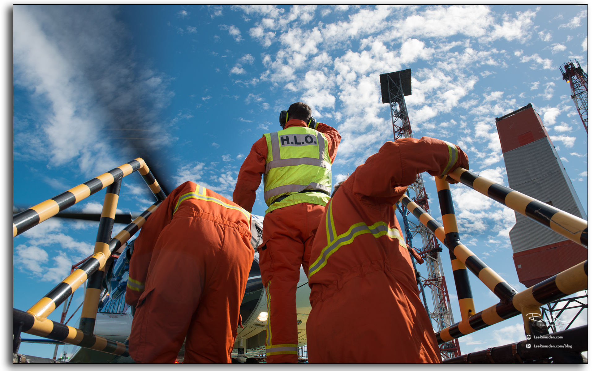 helideck, crew, HLO, offshore, oil and gas platform