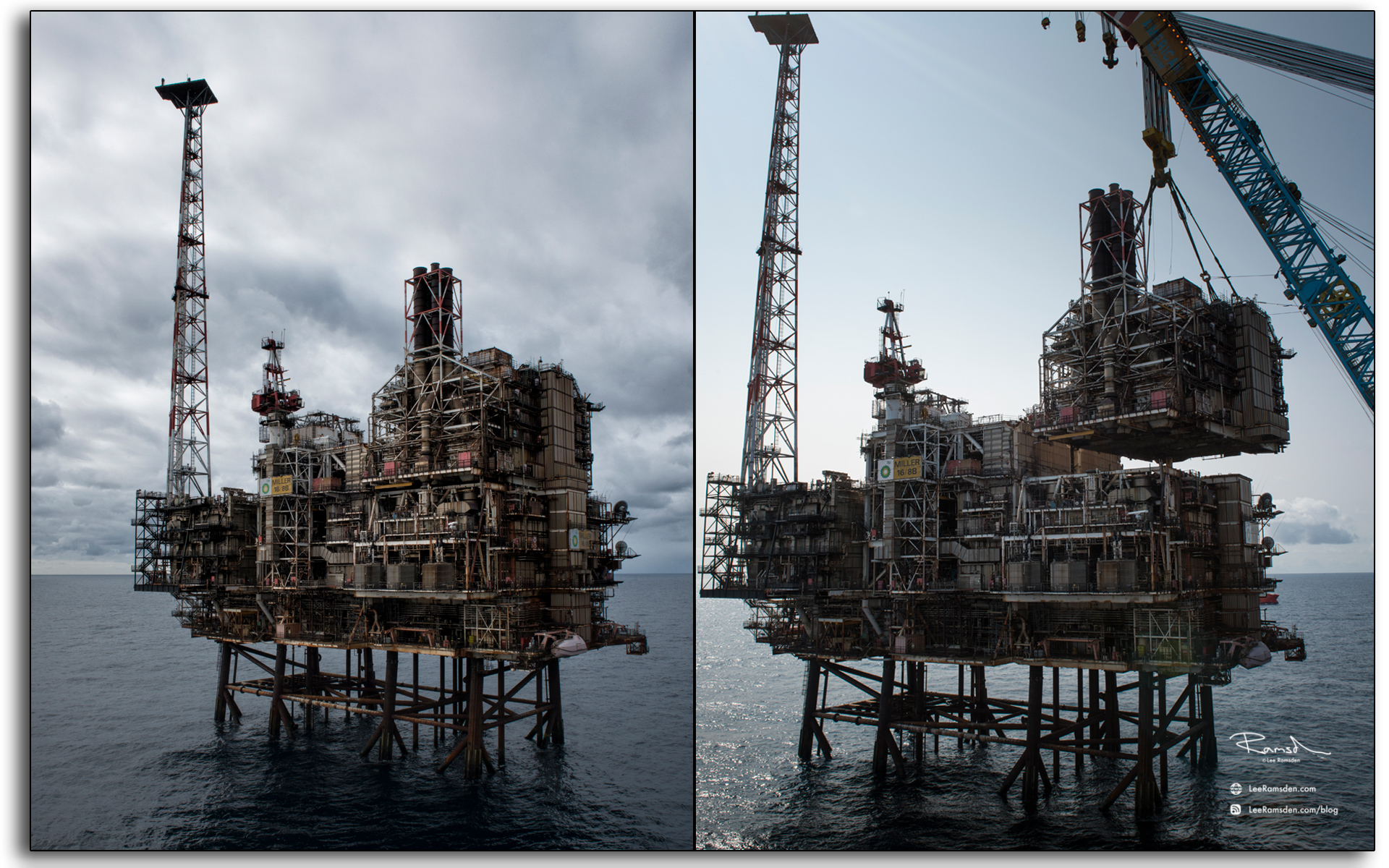 BP, Miller, oil and gas, industry decommissioning, Module removal