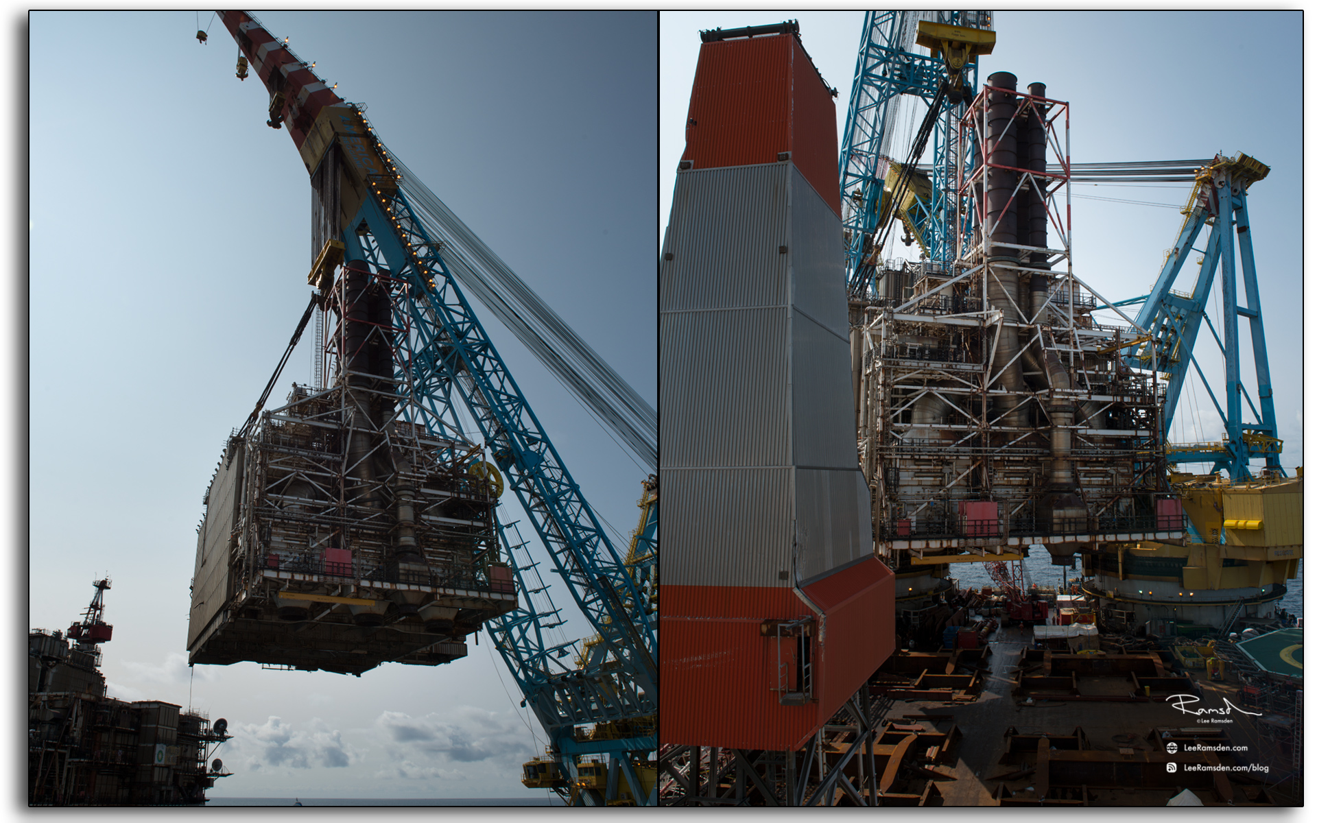 Saipem s7000, M1, crane lifting, offshore, northsea, floating, heavy lift vessel
