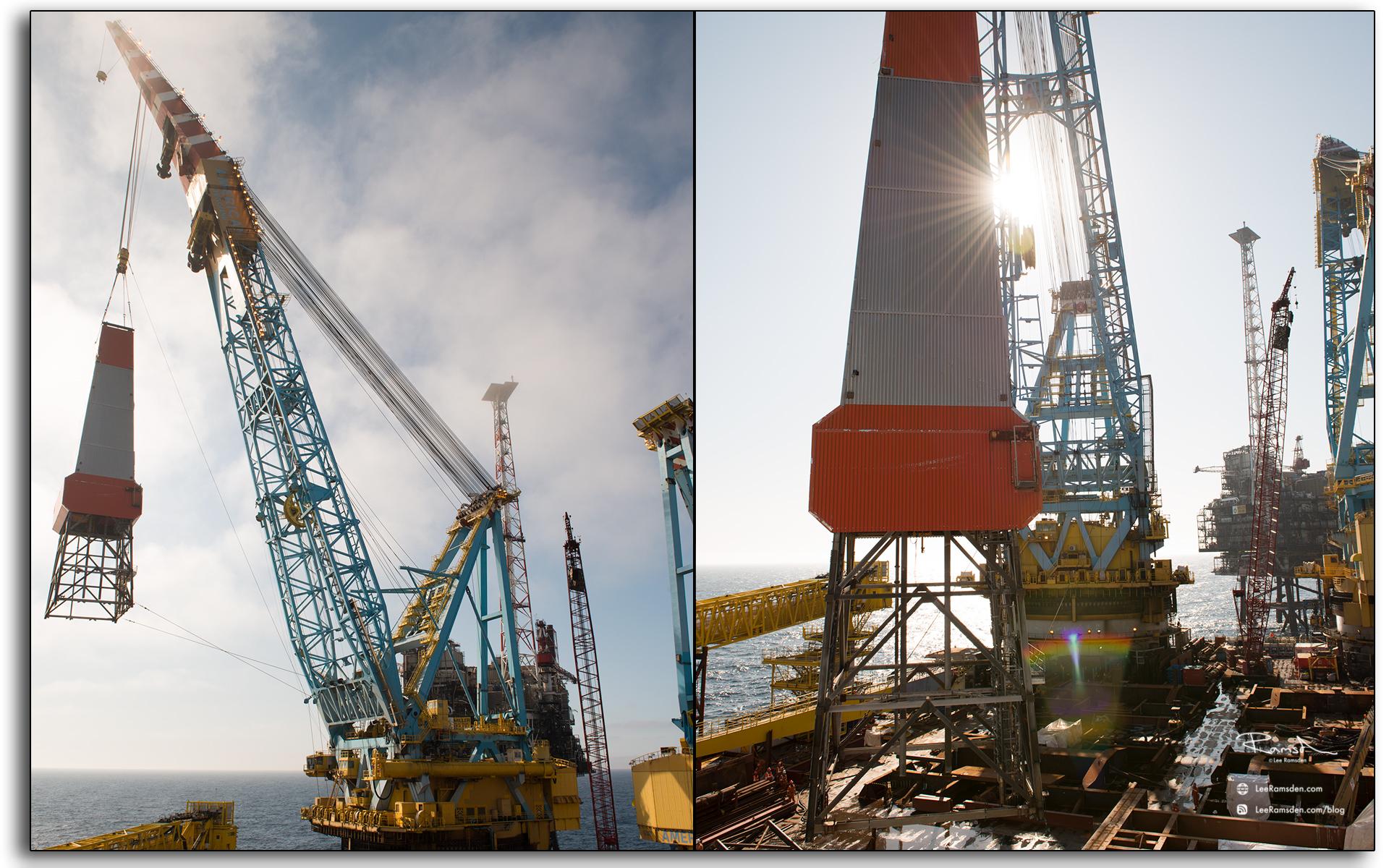 derrick, removal, heavy lift, Saipem, Petrofac, BP, S7000