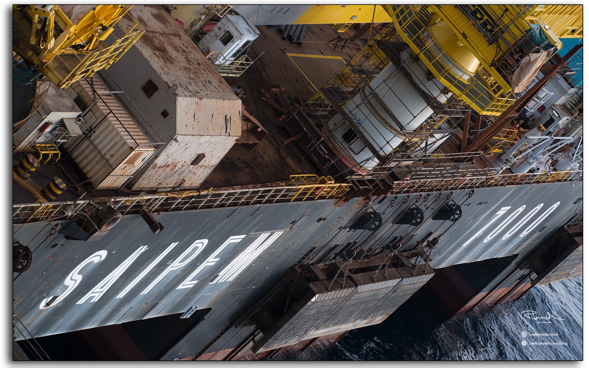Saipem, 7000, industrial, oil and gas, crane