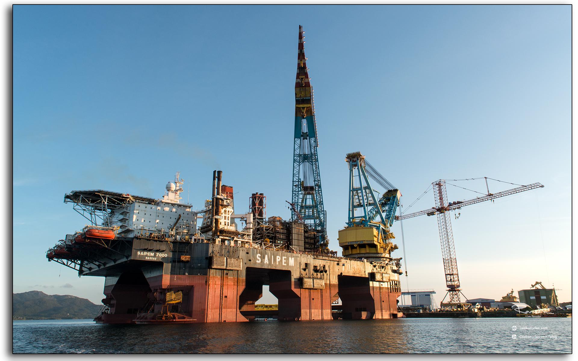 blog, Saipem S7000, heavy lifting vessel, Norway, Stavanger