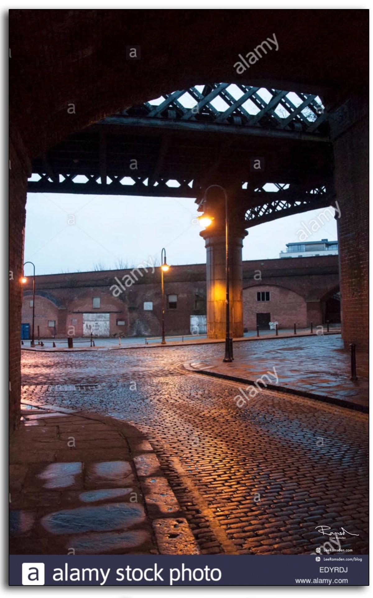 Manchester, castle gardens, Alamy, street, lighting, uk, northwest, commissioned work, book cover, lee ramsden