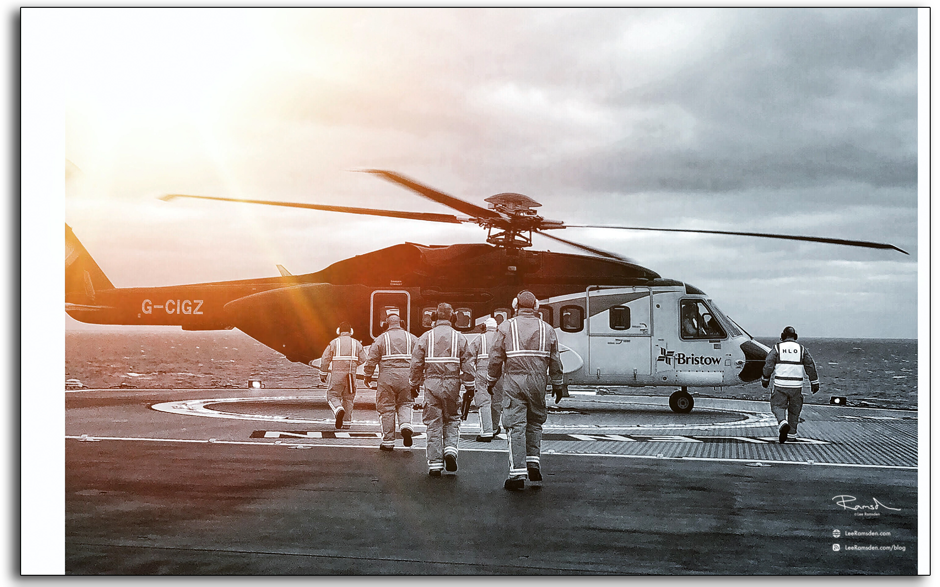 BP Glen Lyon, helicopter, crew change, north sea oil and gas industry, lee ramsden