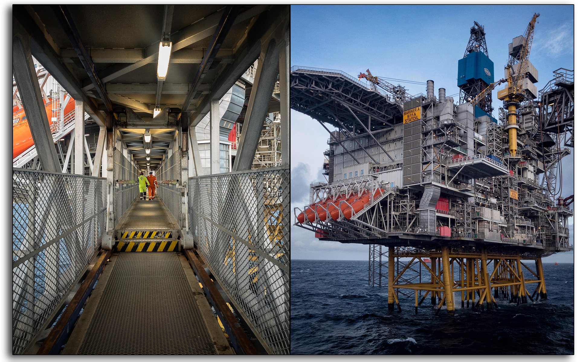 Bridge, gangway, walk to work, Oil and gas, oil rig, Scotland, industry, industrial, Mariner, workers, construction.jpg
