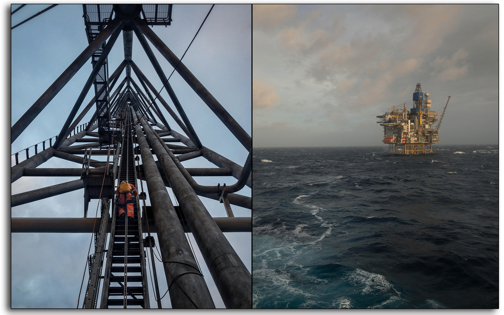 IRATA, rope access, climber, climbing, flare, offshore, Sun shine, sun rise, oil platform, Oil and gas, oil rig, Scotland, industry, industrial, Mariner, workers, construction.jpg