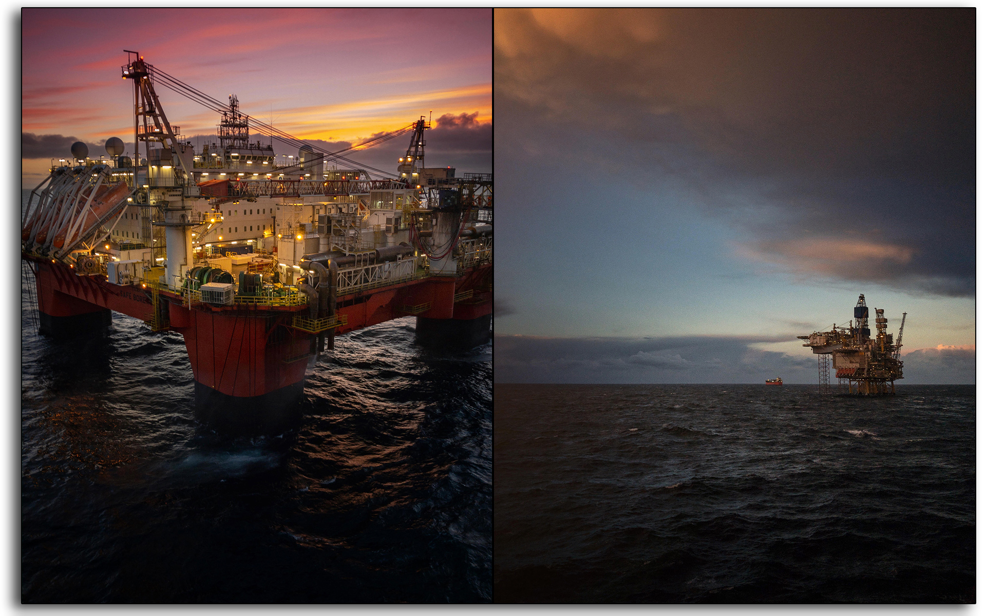 Safe Boreas, Sunset, flotel, accomodation, vessel, Oil and gas, oil rig, Scotland, industry, industrial, Mariner, workers, construction.jpg