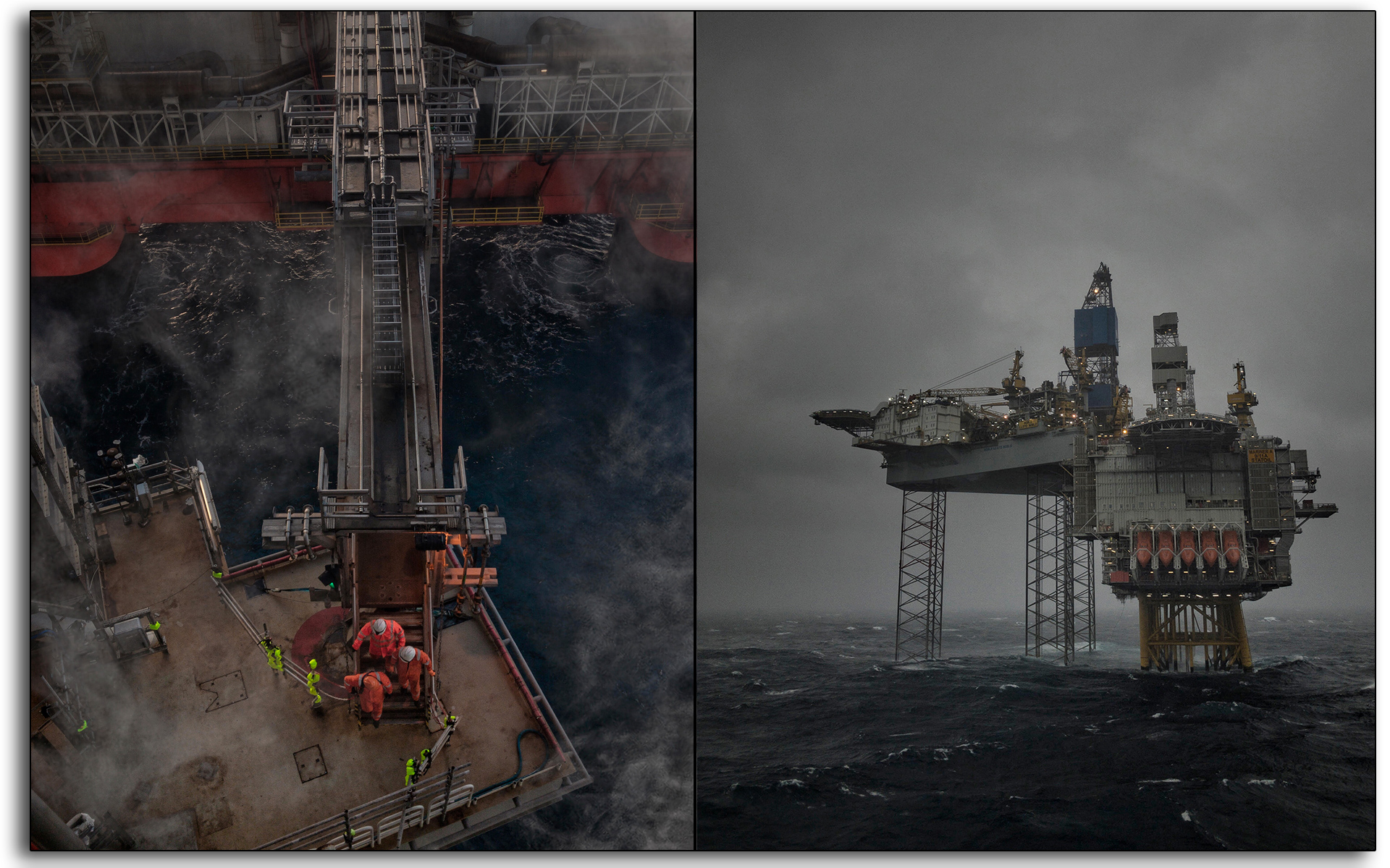 Stormy weather, rough seas, Oil and gas, oil rig, Scotland, industry, industrial, Mariner, workers, construction.jpg