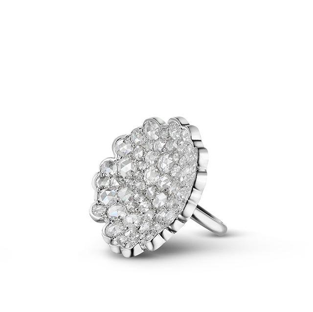 """18kt White Gold and Rose Cut Diamond """"Foam"""" Ring and 18kt White Gold, Rose Cut Diamond and Australian South Sea Pearl """"Foam"""" Part of the """"Foam"""" Collection #luxury #luxurywedding #bespoke #designer #jewellery #luxuryjewelry #melbourne #london #wedding #luxuryjewellery"""