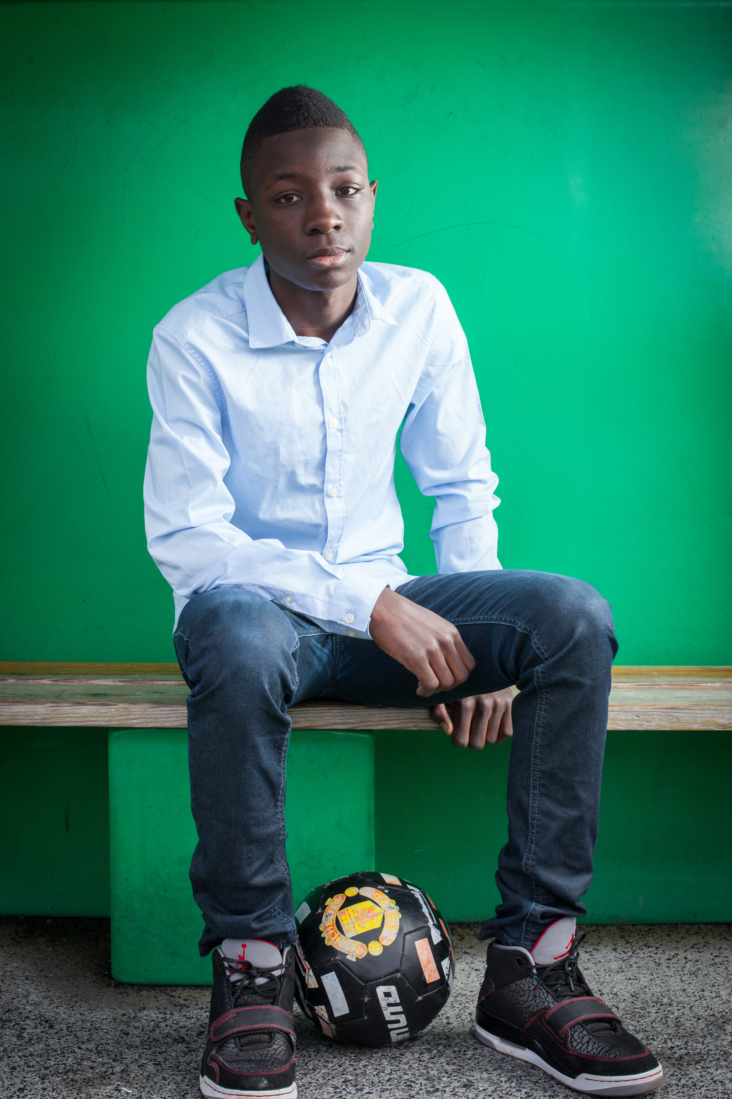 Kilian Vilangani, jeune footballeur au sein du club de Wasquehal.