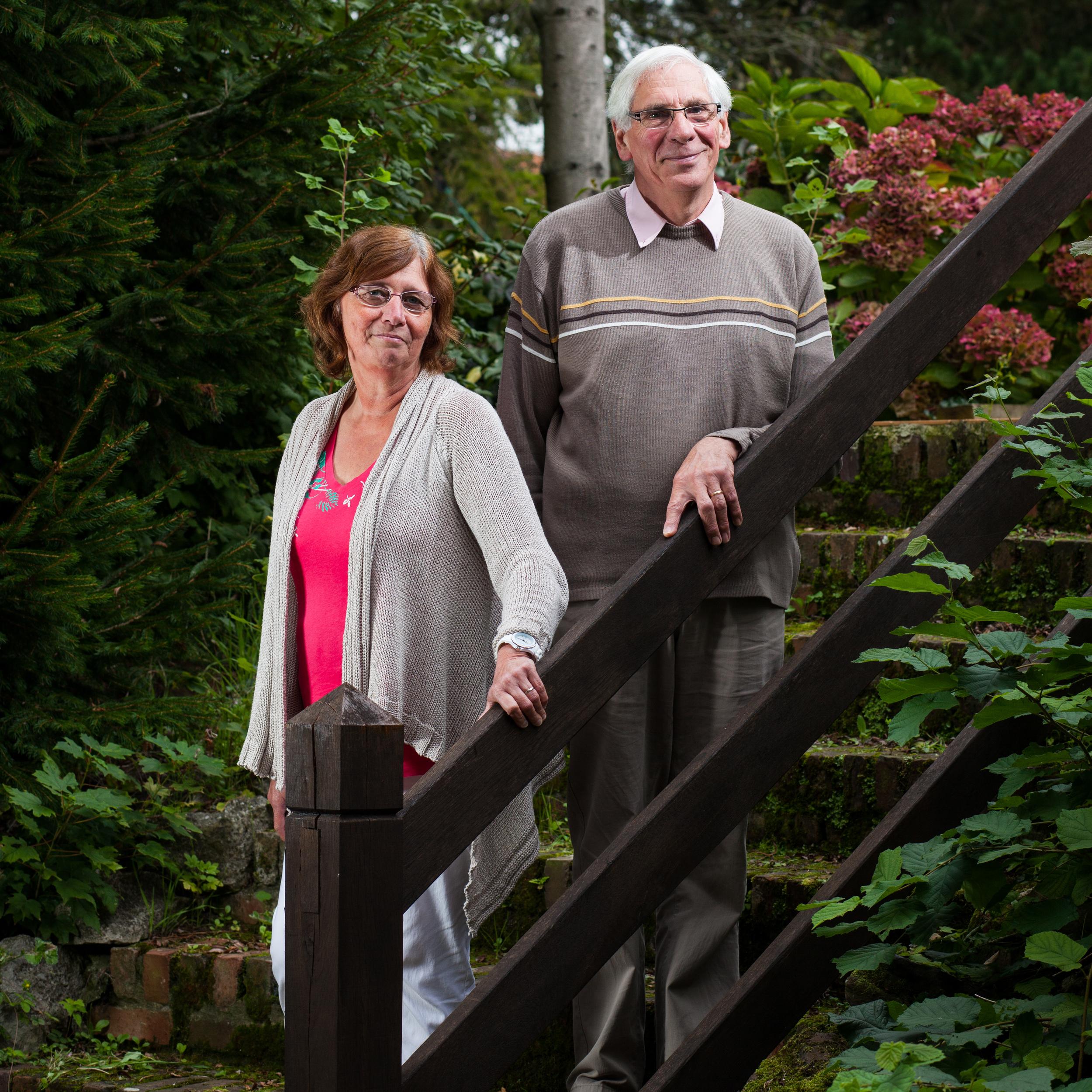 JoëlLoeilleux, président de la LDH Calais, et sa femme.
