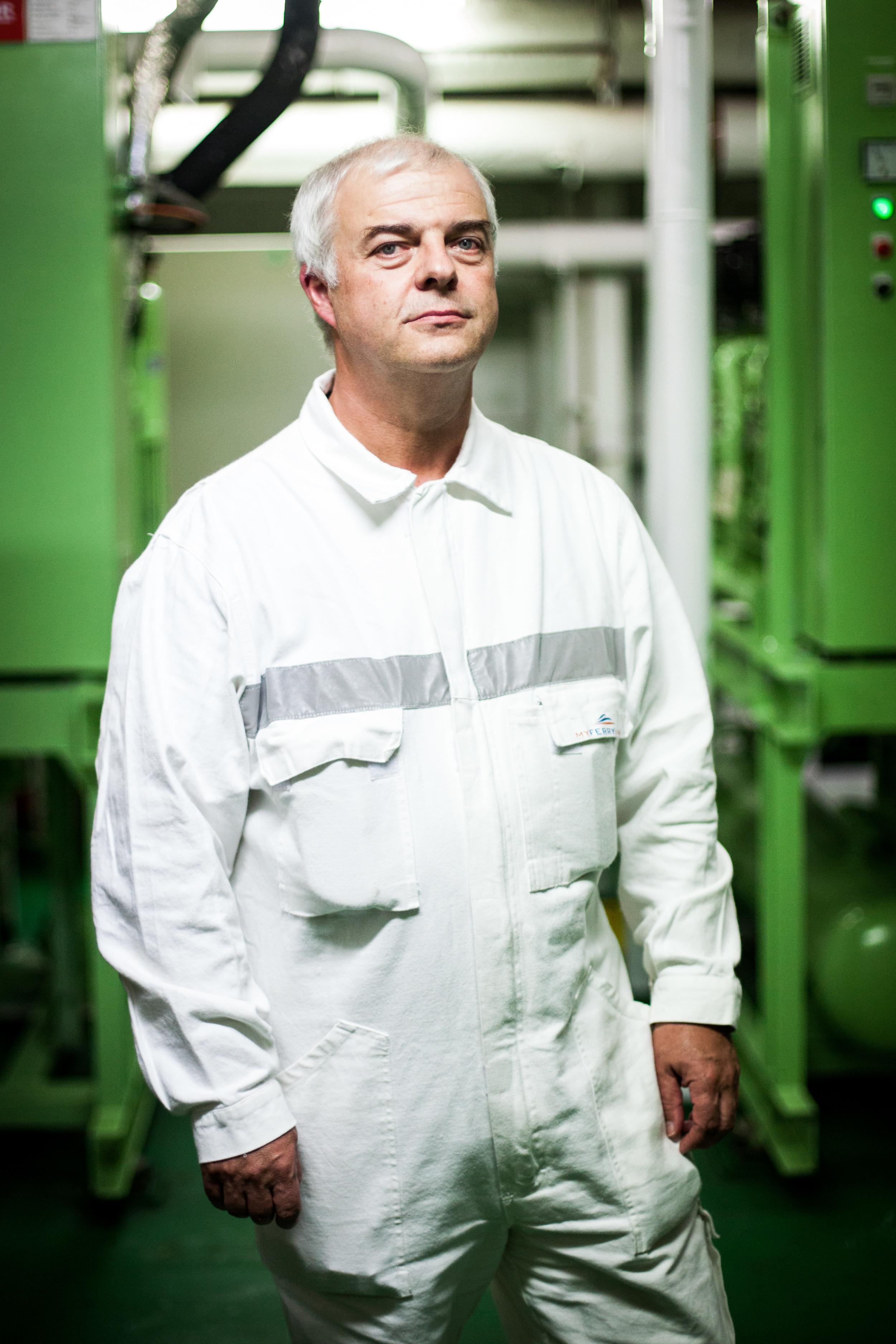 Philippe Parisseaux, chef mécanicien sur les navires de My Ferry Link, SCOP créée après la liquidation judiciaire de Sea France.