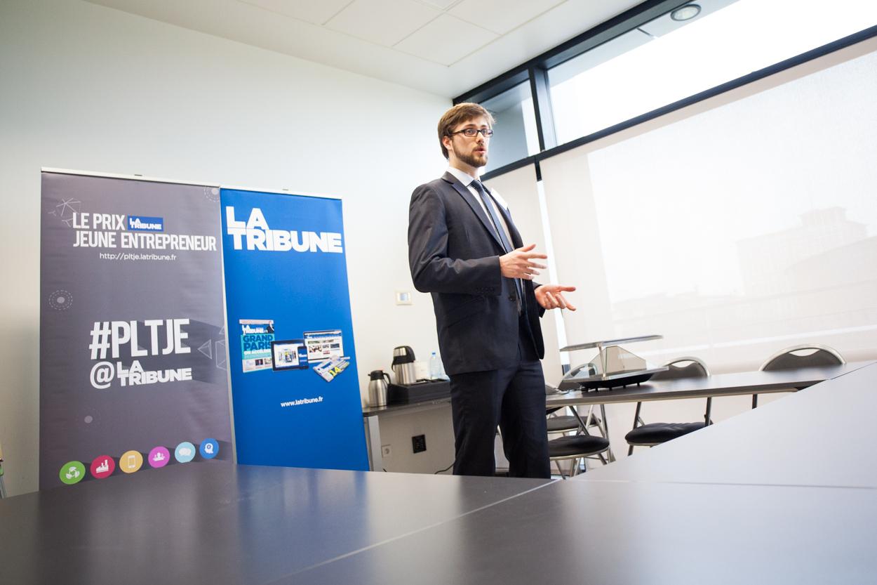 Reportage au Conseil Régional à Lille sur leprix du Jeune Entrepreneur, organisé par le magazine La Tribune.