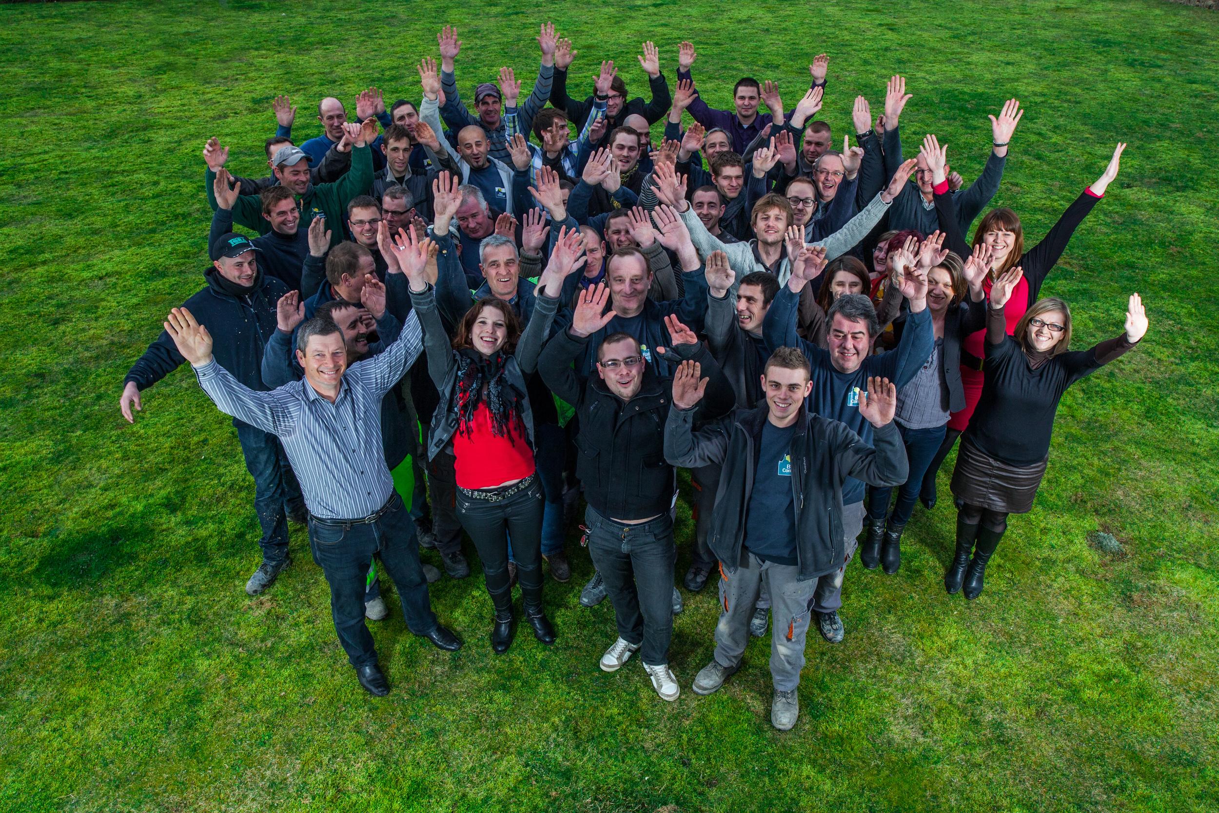 Prises de vue pour la communication de la société Baticoncept - portrait de l'équipe.
