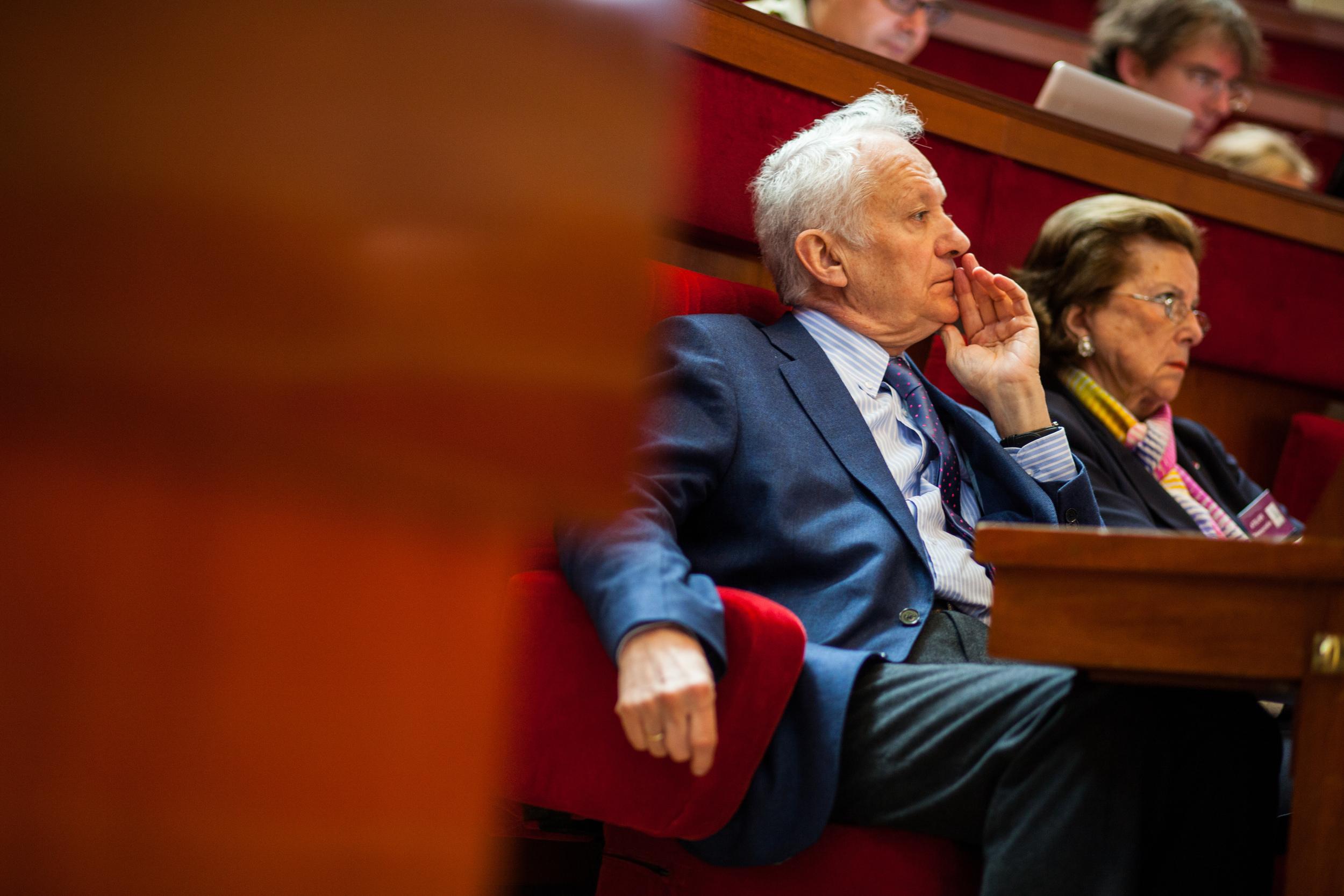 Jean-Marie Cavada, président du Mouvement Européen - France, député européen et ancien directeur de Radio France.  Etats Généraux de l'Europe, Paris, mai 2014. Mouvement Européen - France & Think Tank Europa Nova