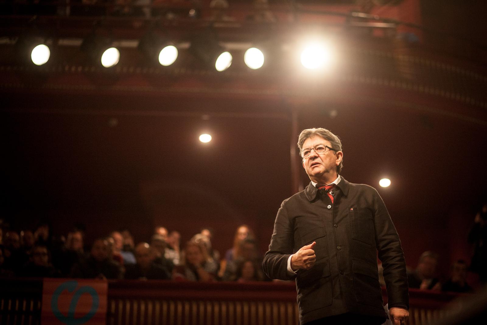 Jean-Luc Mélenchon, le candidat de la France insoumise était en janvier au théâtre municipal de Tourcoing pour défendre son programme: partage des richesses, loi travail, fiscalité.  Publié dans L'Humanité