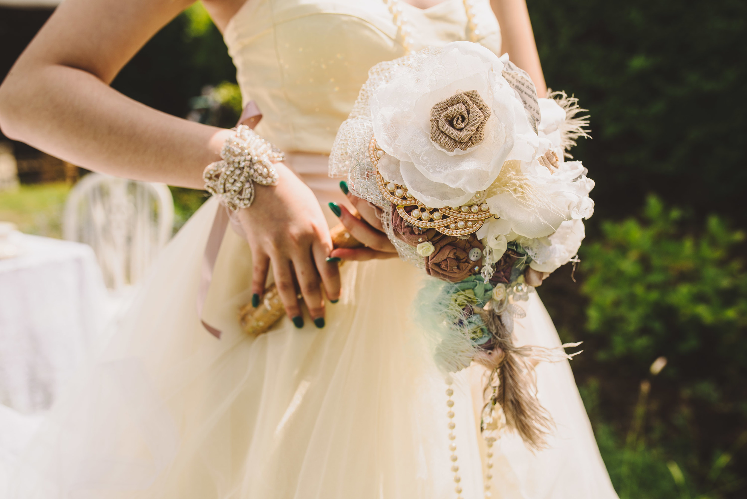 All Bouquets and accessories designed and handmade by Bespoke Vintage Castle. Photo Credit Becky Ryan Photography
