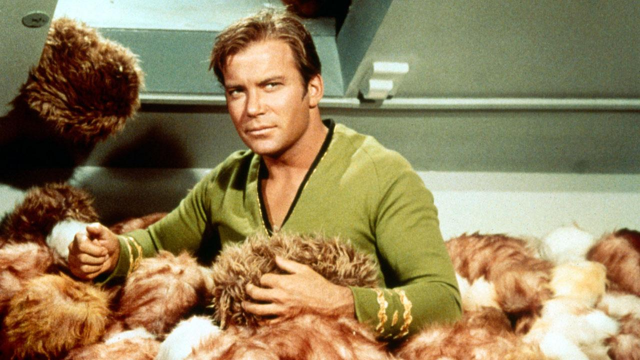 Cap'n Kirk and his TRIBBLE lady friends.