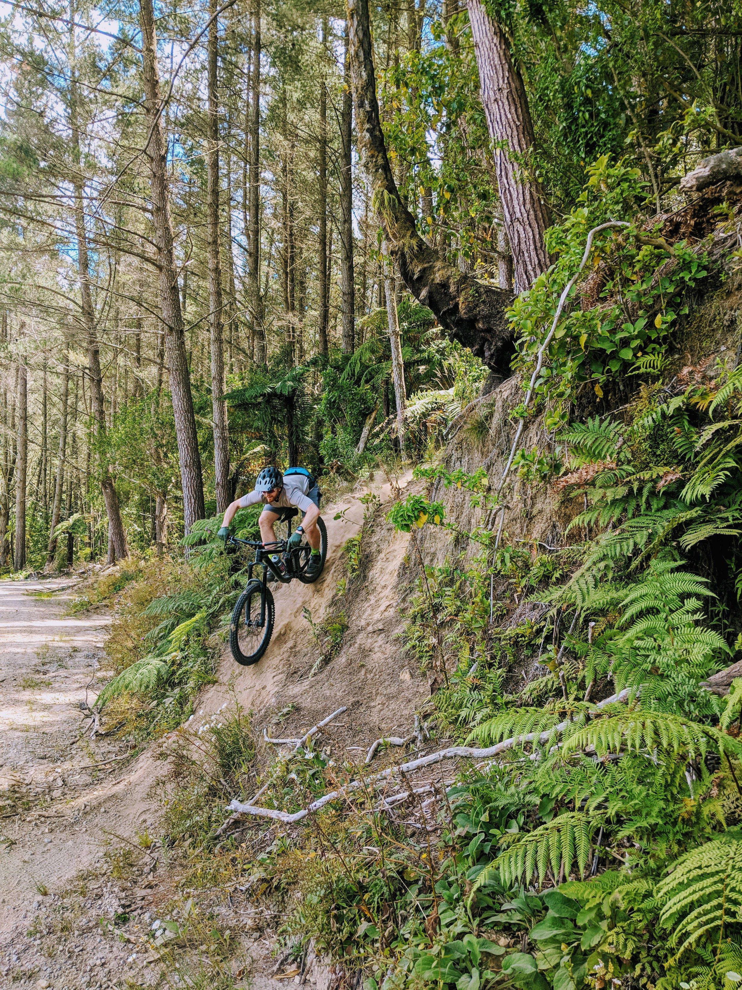 Ryan making this steep exit look easy.