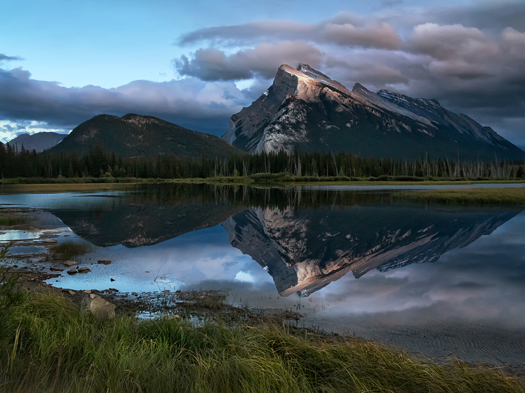 Mount Rundle from Vermillion Lake, Banff National Park
