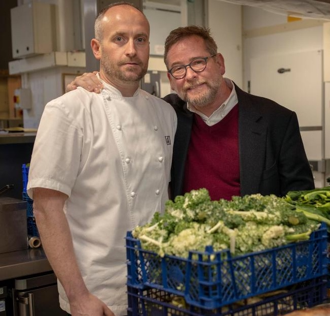 Andrew with Stevie McLaughlin, who is taking over the kitchen at Restaurant Andrew Fairlie (photo: James Glossop @glossphoto.)