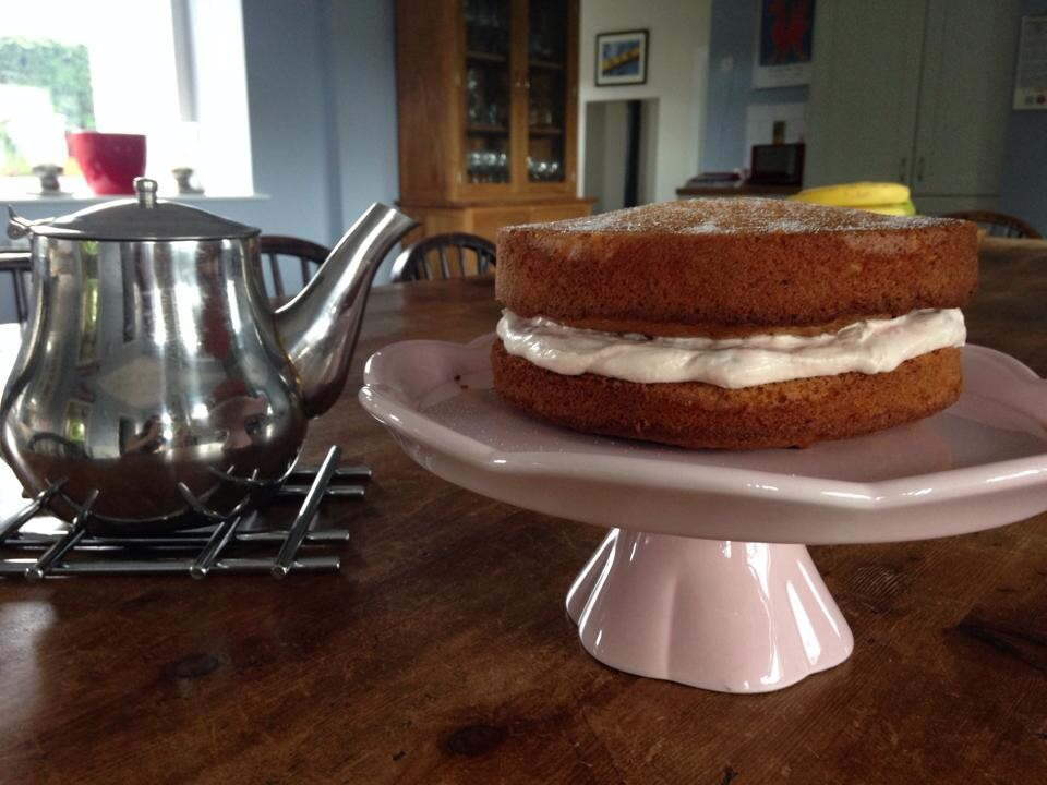 Tea is the perfect accompaniment for a Victoria sponge!
