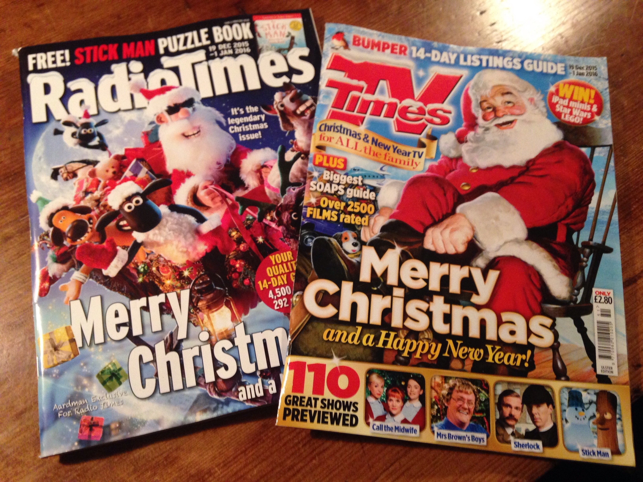 Radio Times and TV Times.