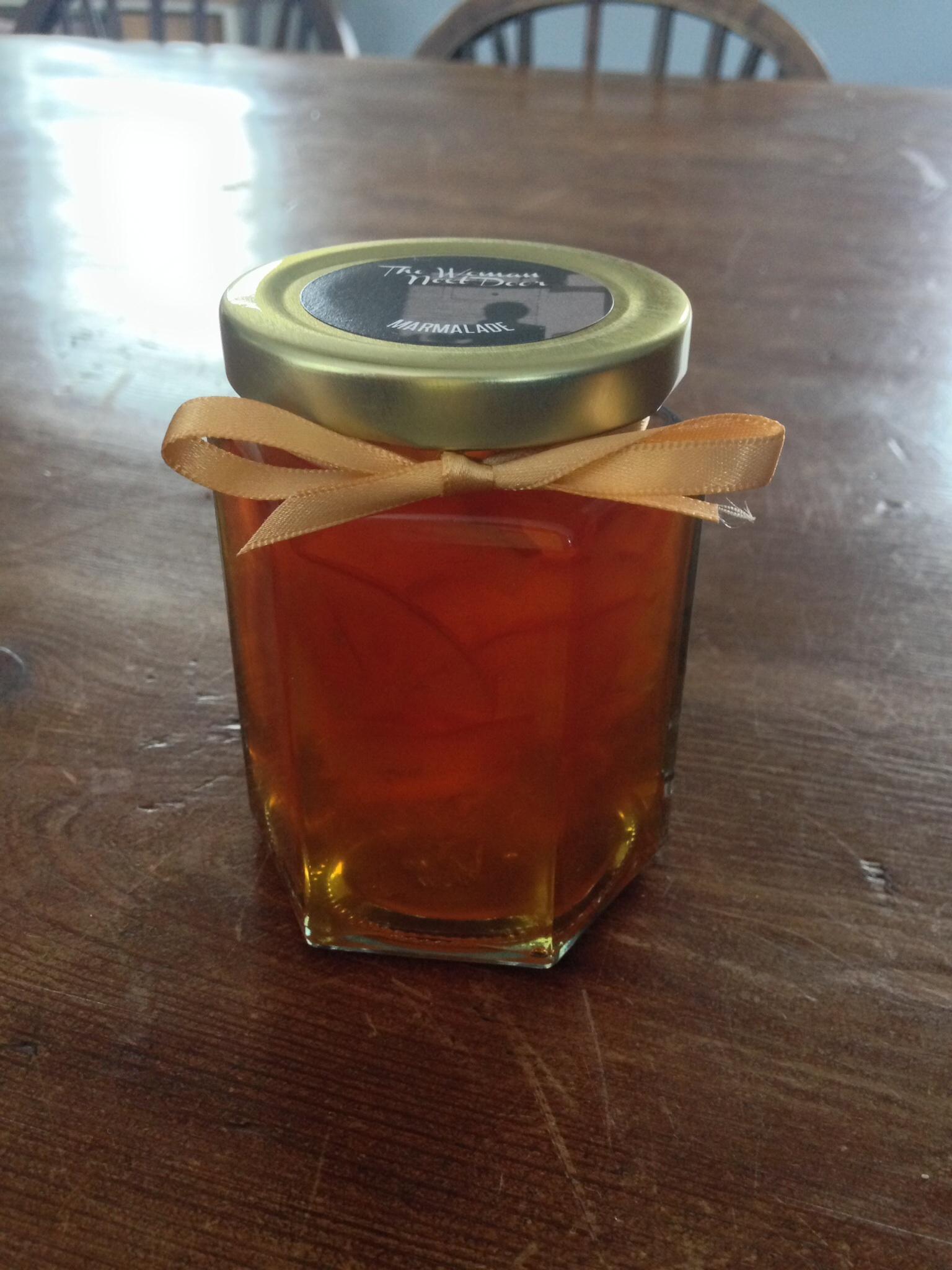 The Woman Next Door's hand-cut Seville orange marmalade.