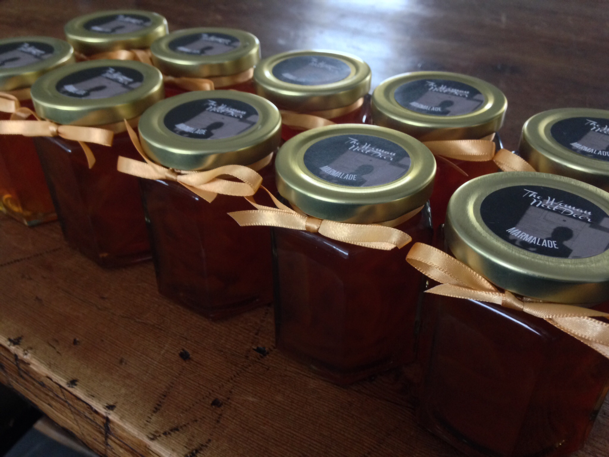 Marmalade all jarred & ready for sale.