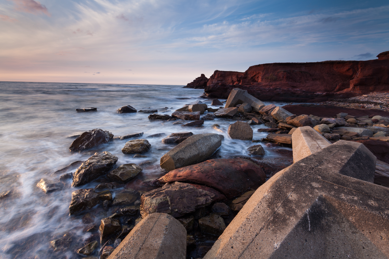 Landscape photo in the Magdalen Islands - la Côte