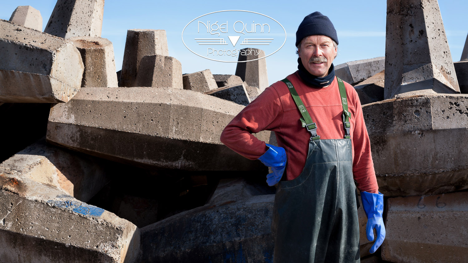 Portrait photo in the Magdalen Islands - fisherman at the opening of the season in House Harbor