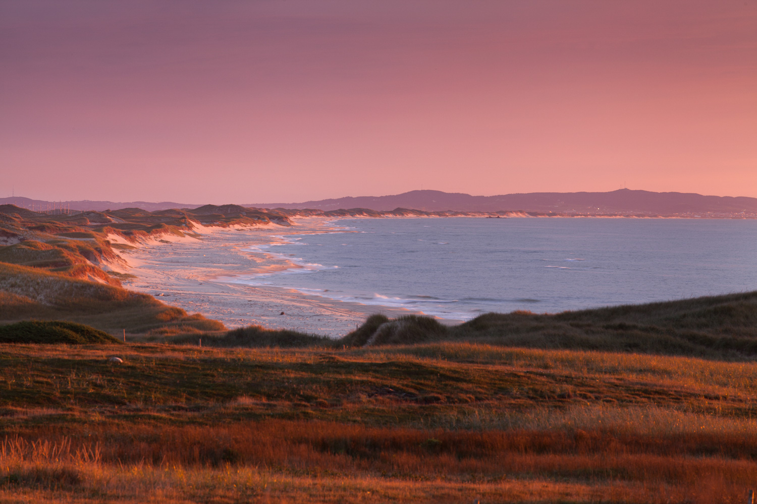 Landscape photo in the Magdalen Islands - view from Pointe-aux-Loups