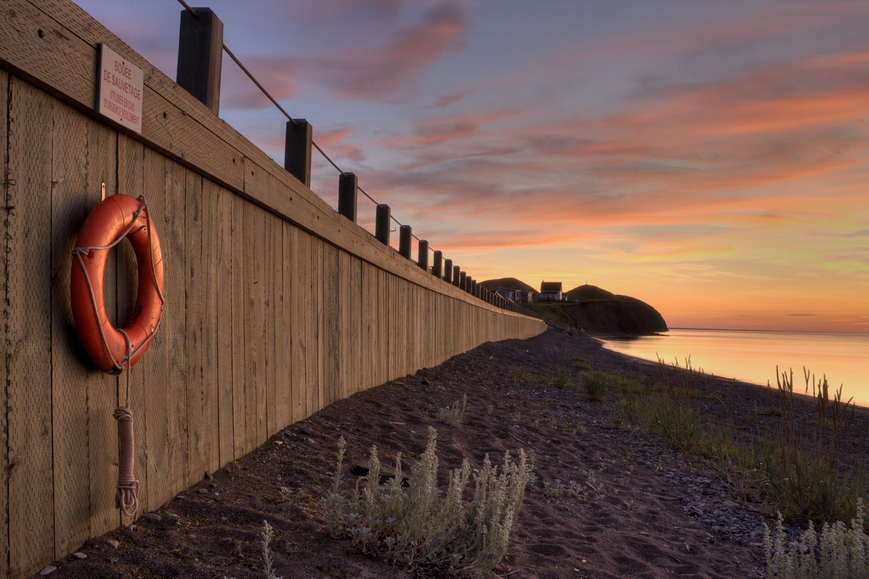 Landscape photo in the Magdalen Islands - sunset at la Grave