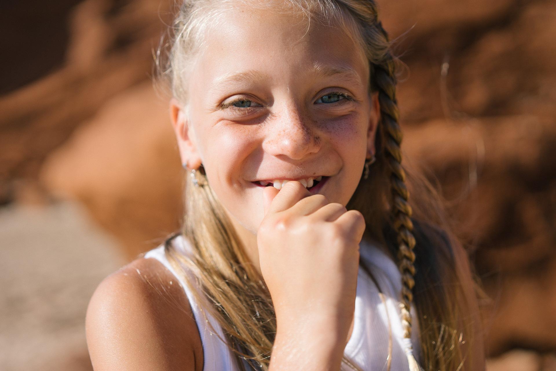 Photo d'enfant aux Iles de la Madeleine