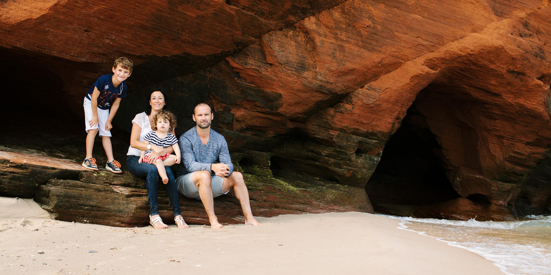 Portrait de famille aux Iles de la Madeleine