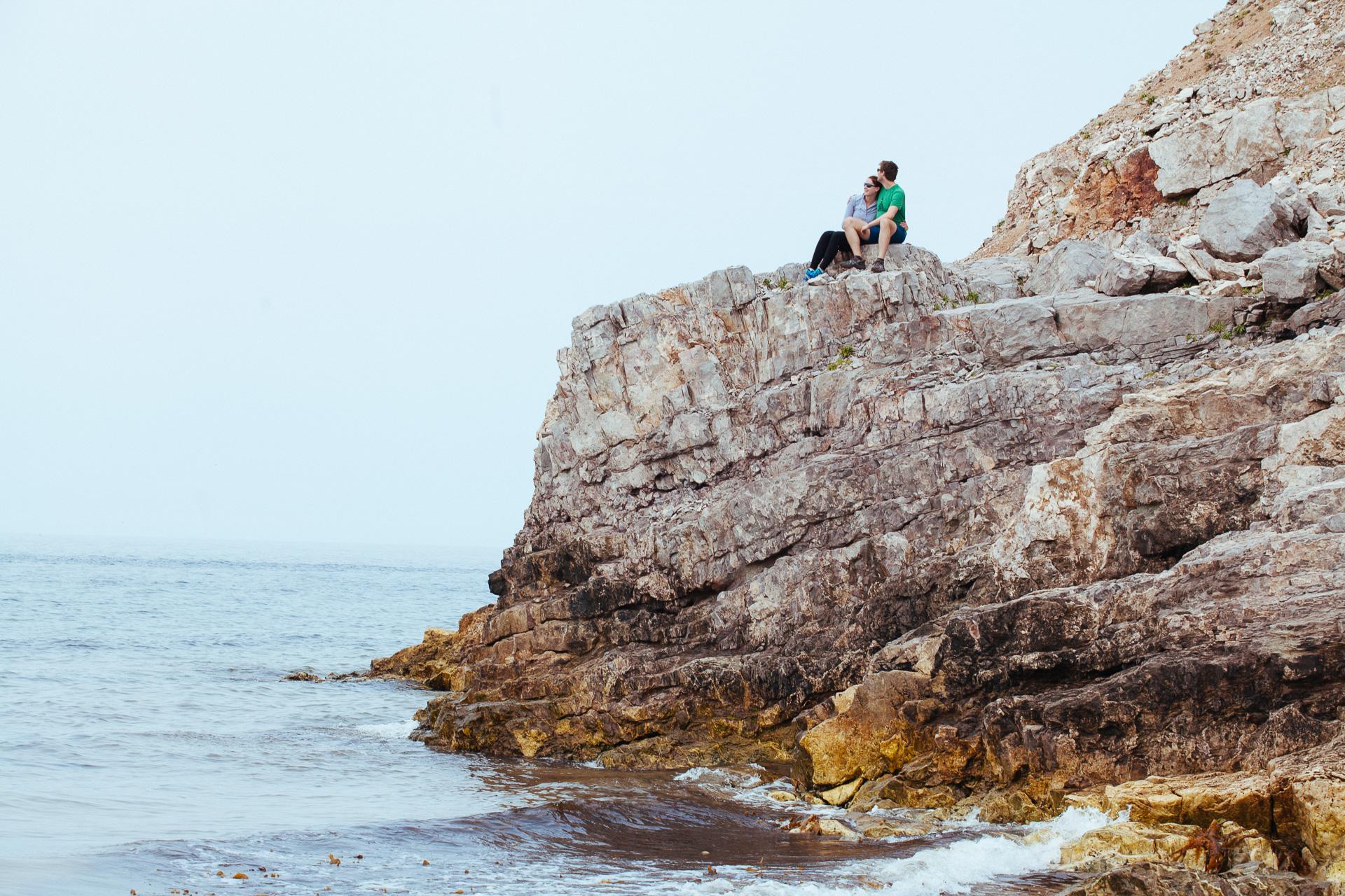 Photo de couple aux Iles de la Madeleine