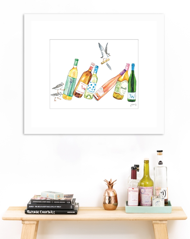Any piece in this series would look  beyond  cute above a home bar.