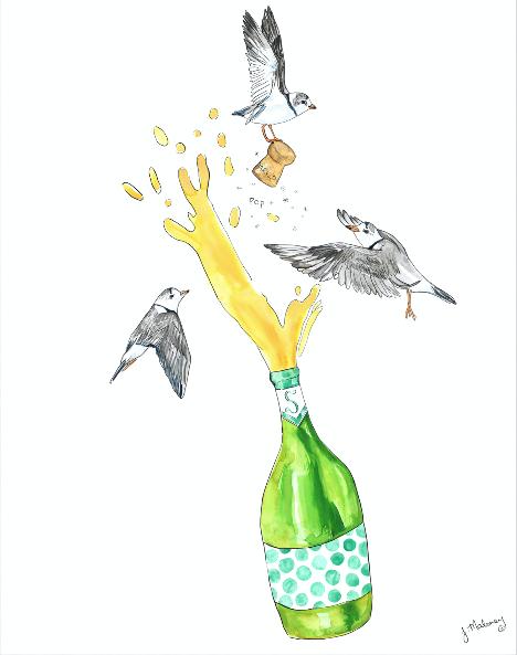 Plovers Popping Bottles