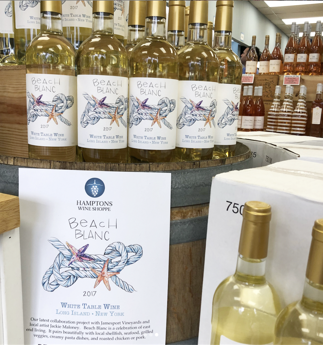 Beach Blanc - Available at Hamptons Wine Shoppe & Vintage Mattituck