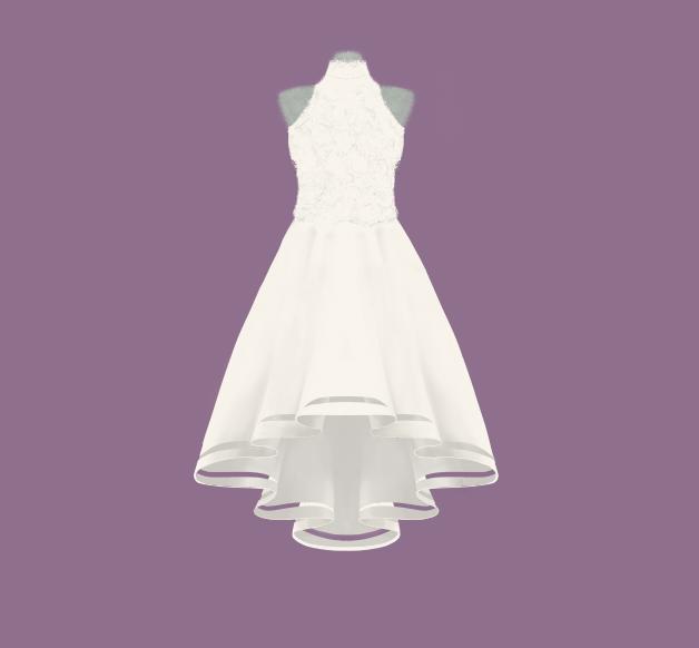 Custom Wedding Dress Illustration #3