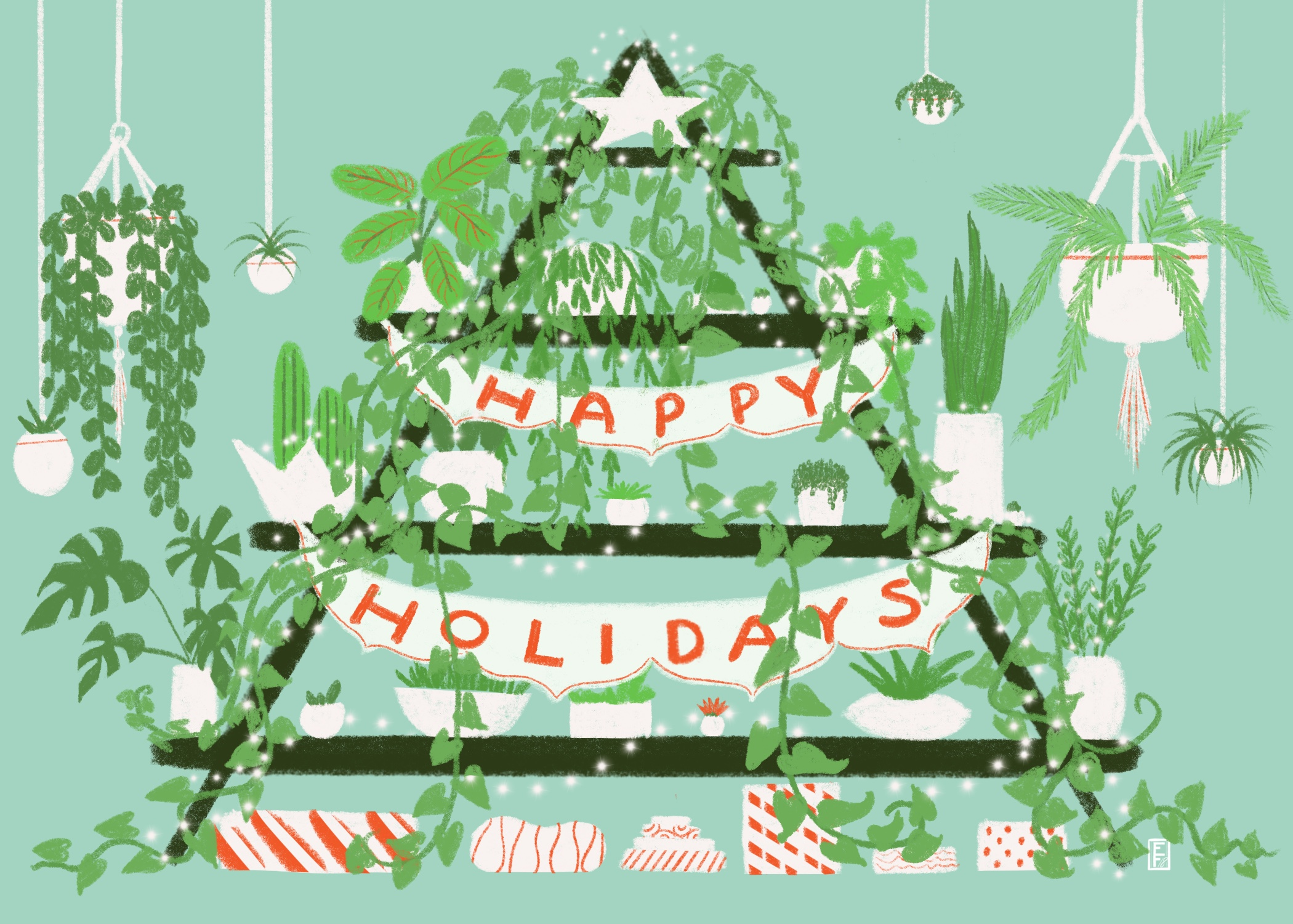 Plant Lover Holiday Card 2