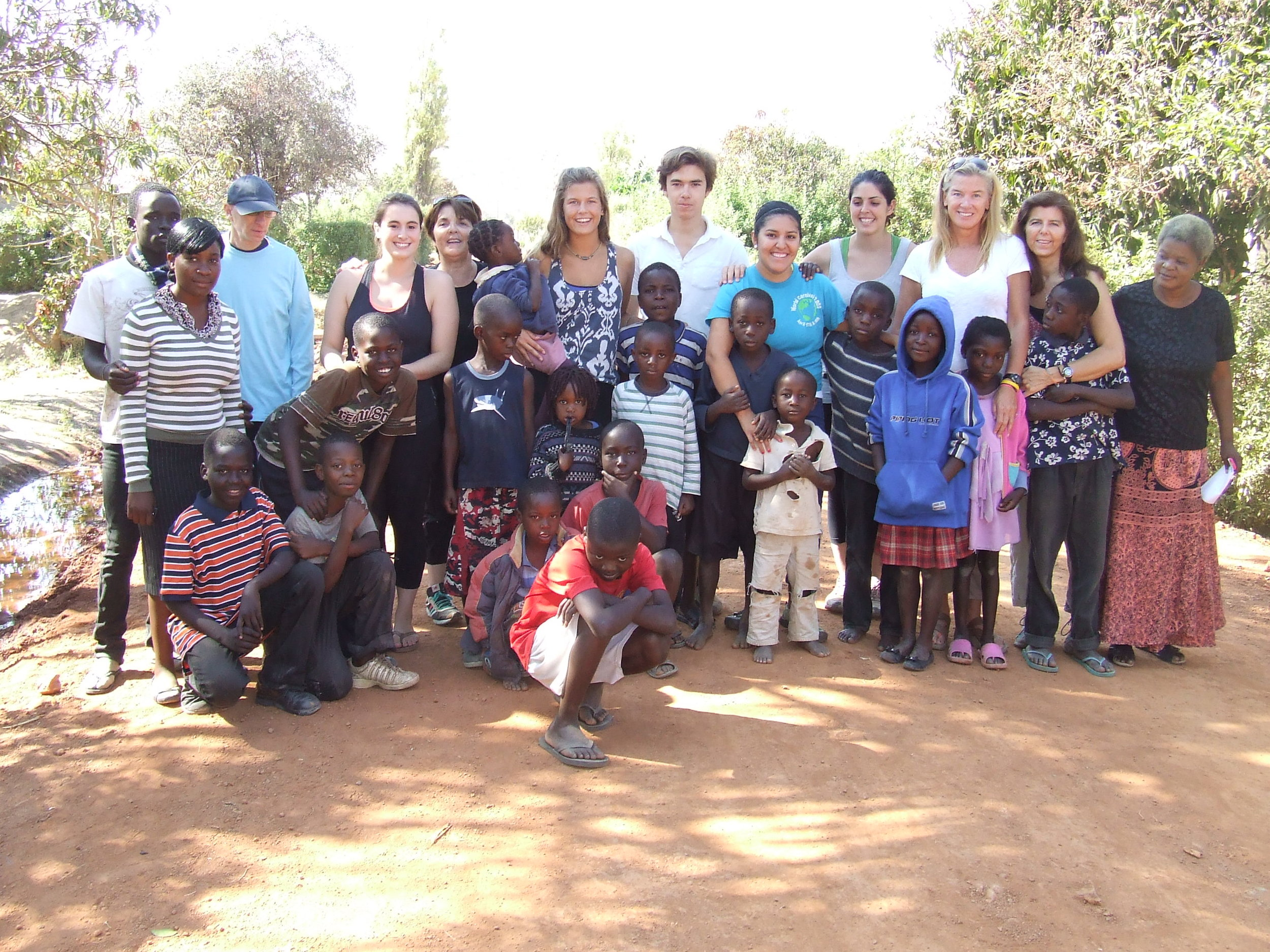 AEP's largest volunteer group traveled to Kafue, Zambia in August 2012.