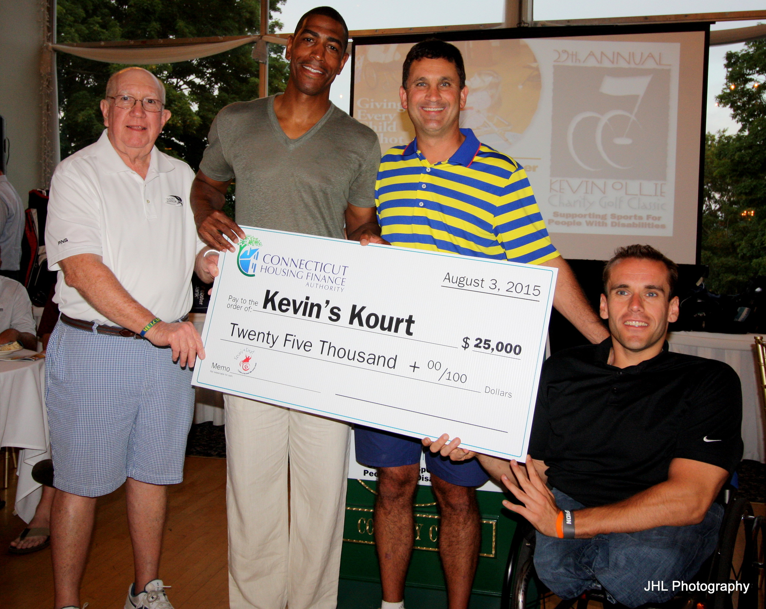 Grant presentation to Kevin's Kourts from Connecticut Housing Finance Authority