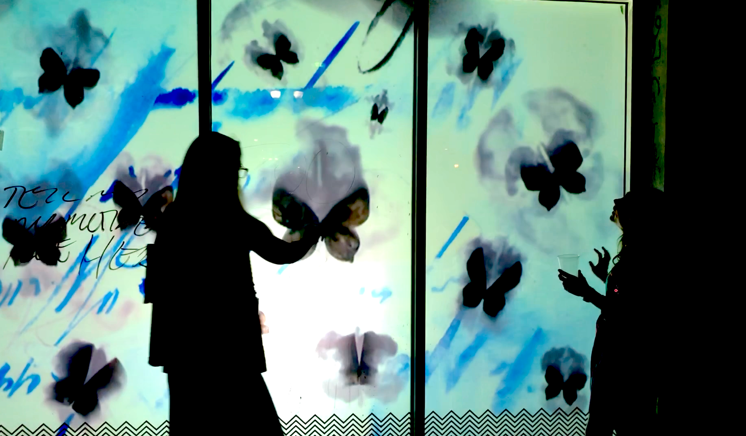 "Still from Fleming + Schleh collaboration ""Smokey Butterflies Flying"" Elysian Fields & Chartres"