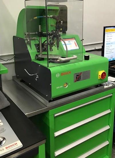 Bosch Common Rail Injector undergoing Testing
